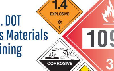 U.S. DOT Shipping Hazardous Materials Training
