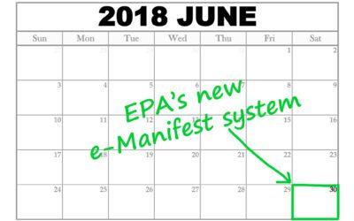 EPA's New e-Manifest System