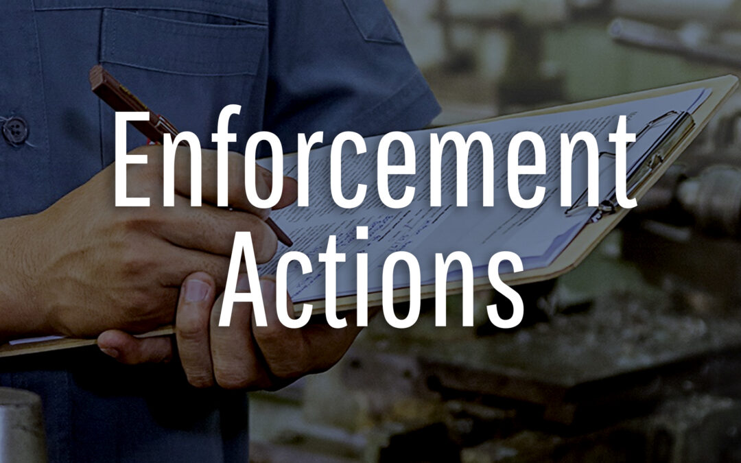 Enforcement Actions 2018